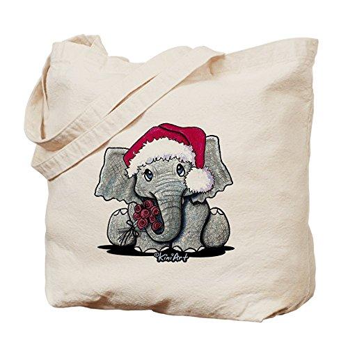 CafePress, diseño navideño de gamuza de bolsa de lona bolsa, bolsa de la compra, diseño de elefante
