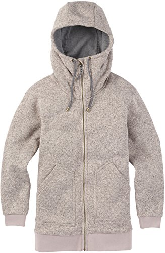 Burton Women's Minxy Fleece Sweaters, Dove Heather, (Burton Womens Snowboard Jackets)