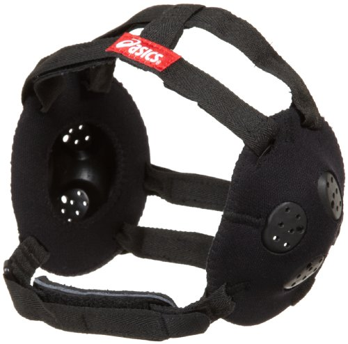 ASICS Jr. Gel Headgear, Black, One Size (Asics Wrestling Ear Guard)