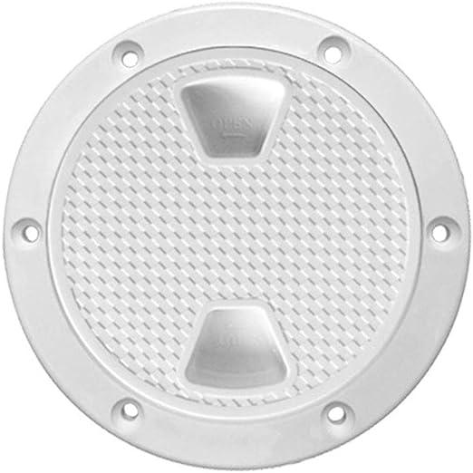 Dovewill Marine Black Plastic Deck Plate 6 Waterproof Inspection Screw Type for Boat