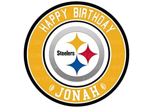 EdibleInkArt Pittsburgh Steelers Edible Cake Topper Personalized Birthday 6