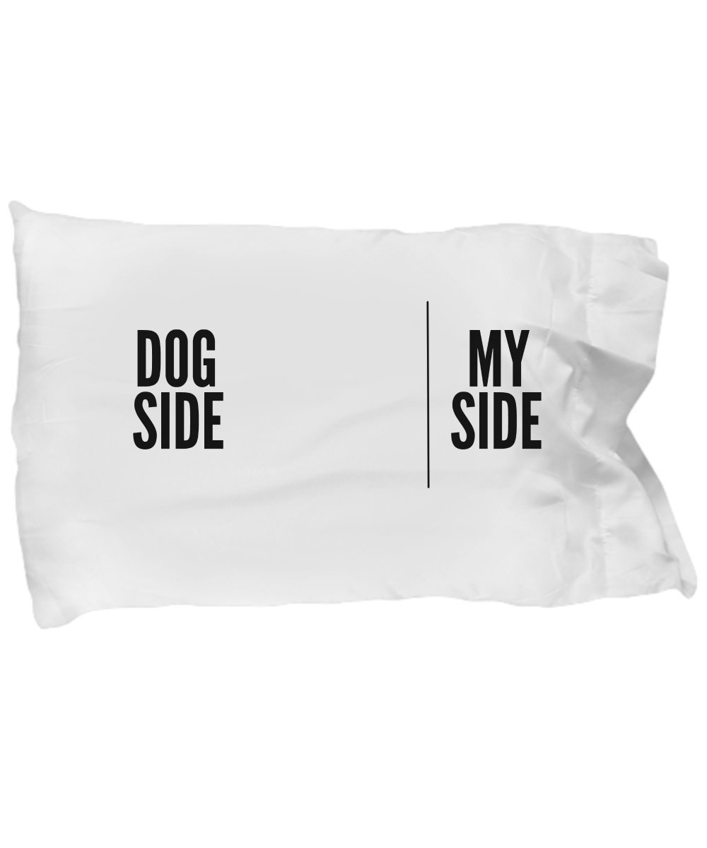 Dog Side My Side Pillow Case - Dog Lover Gifts DogsMakeMeHappy
