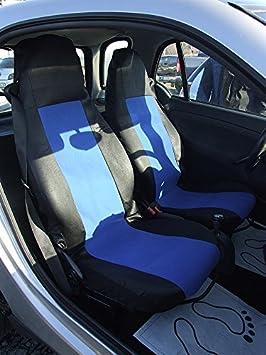 A1 2 Maß SitzbezÜge SchonbezÜge Vordersitz Schonbezug Schwarz Blau Einteilig Top QualitÄt Mit Öffnungen FÜr Airbag Waschbar Auto