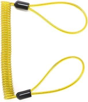 TopHGC Motorcycle Disc Lock Anti-Theft Spring Reminder Spring Anti-Theft Warning Rope Safety Lanyard