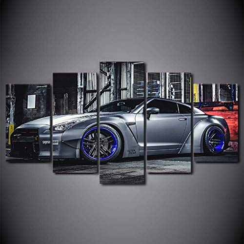 (Fxwj Prints On Canvas Exotic Supercar Sports Car 5 Panels Wall Art Painting Picture for Living Room Home Decor,A,100x50cm)