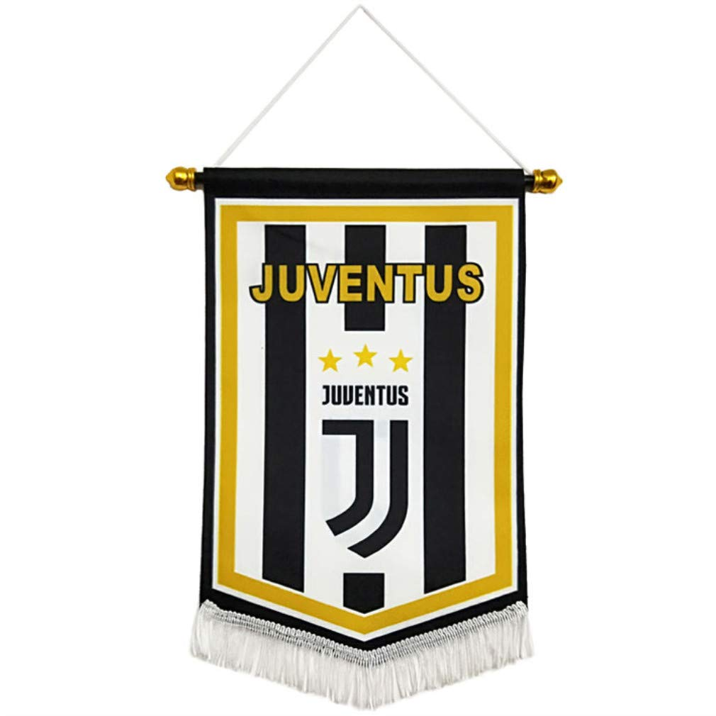 Soccer Club Pentagon Flag for Decoration Black//White STER-TSP Juventus FC Hanging Flag