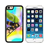 MSD Premium Apple iPhone 6 iPhone 6S Aluminum Backplate Bumper Snap Case IMAGE ID: 29941964 wasp Vespula germanica close up with colourful background