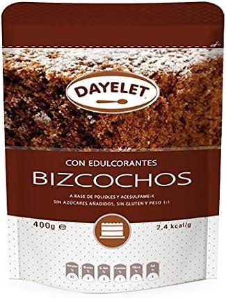 DAYELET BIZCOCHOS se emplea para reemplazar el azúcar, peso a peso, en toda clase de bizcochos. Disfrute de Bizcochos Sin Azúcar y con un 40% menos de ...