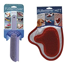 Evriholder FURemover Brush and Mitt Combo (Colors Vary)