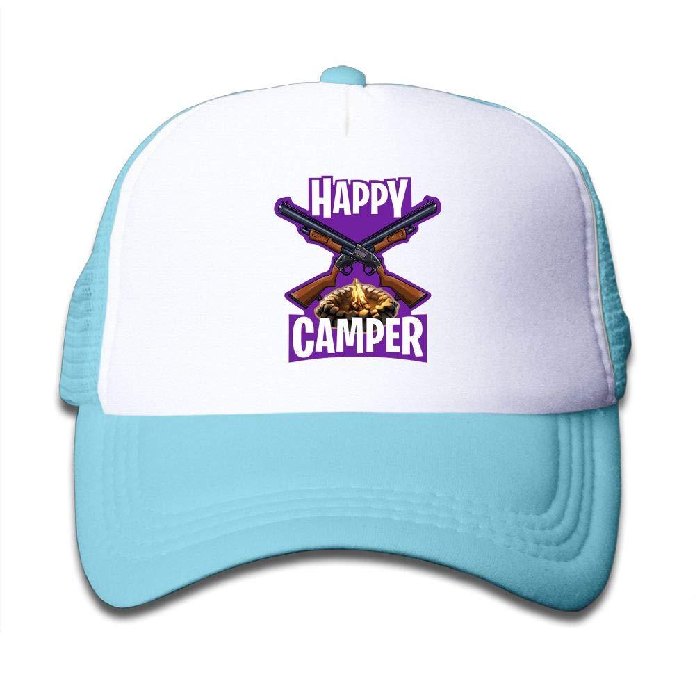 Happy Camper Youth Girls Mesh Hat Fashion Child Mesh Hat One Size