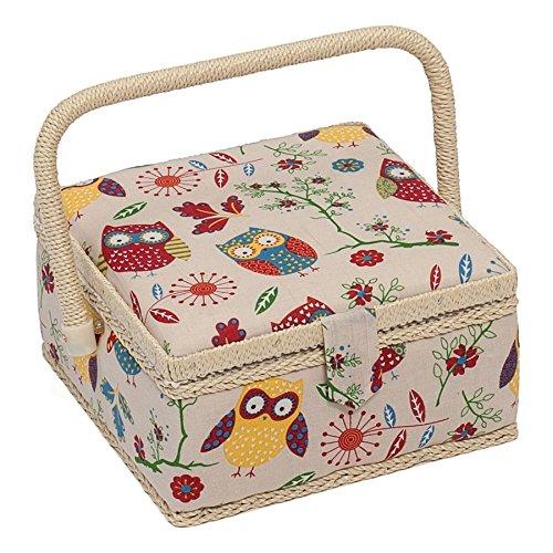 Hobby Gift MRS/29 Gufo Design Scatola Da Cucito Il Naturale Piccolo (20 X 20 X 11cm) Groves