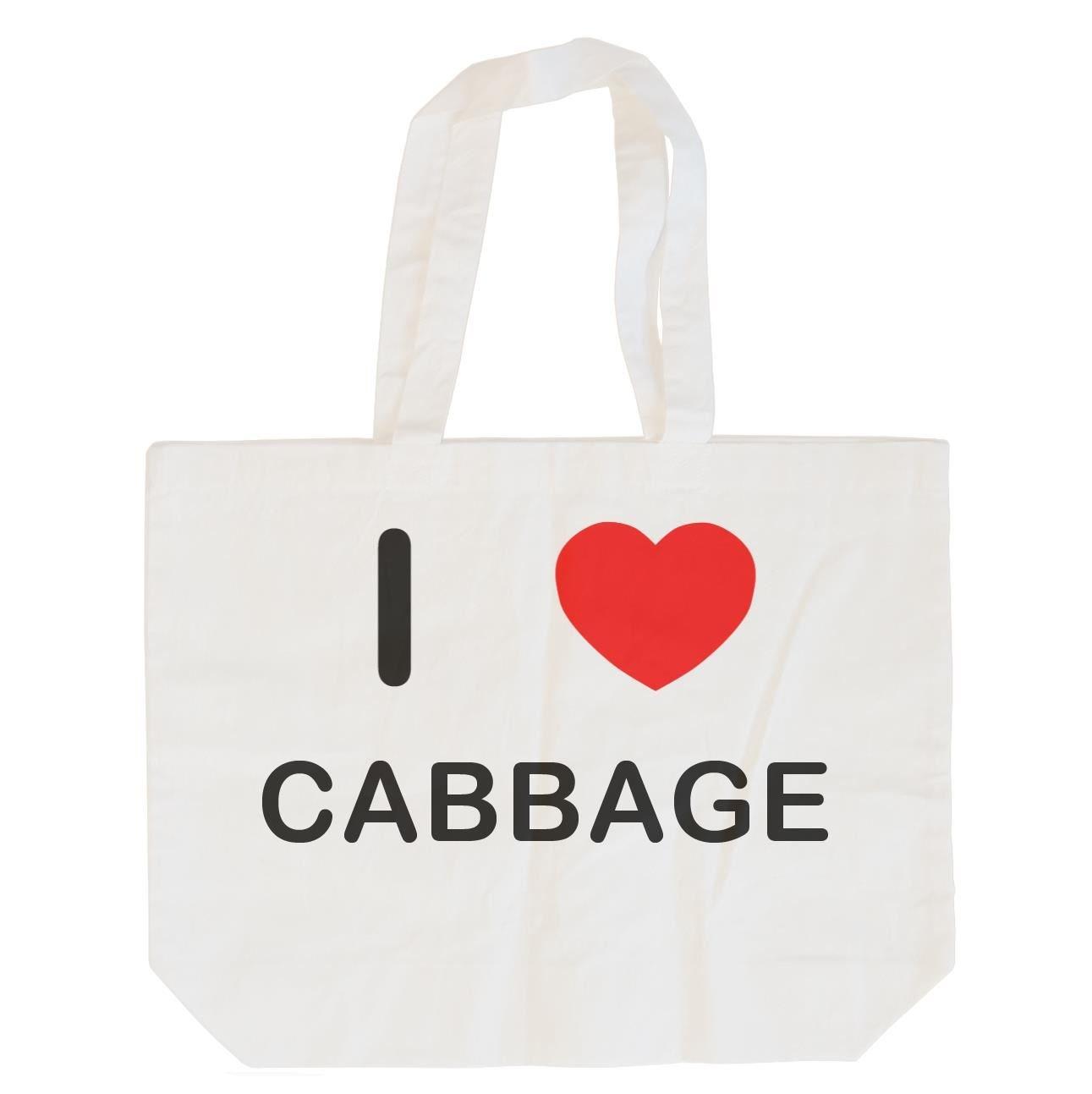 I Love Cabbage Cotton Long Handle Sling Bag