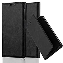 Cadorabo - Book Style Wallet with Stand Function for Sony Xperia Z1 with Card Slot and invisible Magnetic Closure - Etui Case Cover Protection in NIGHT-BLACK