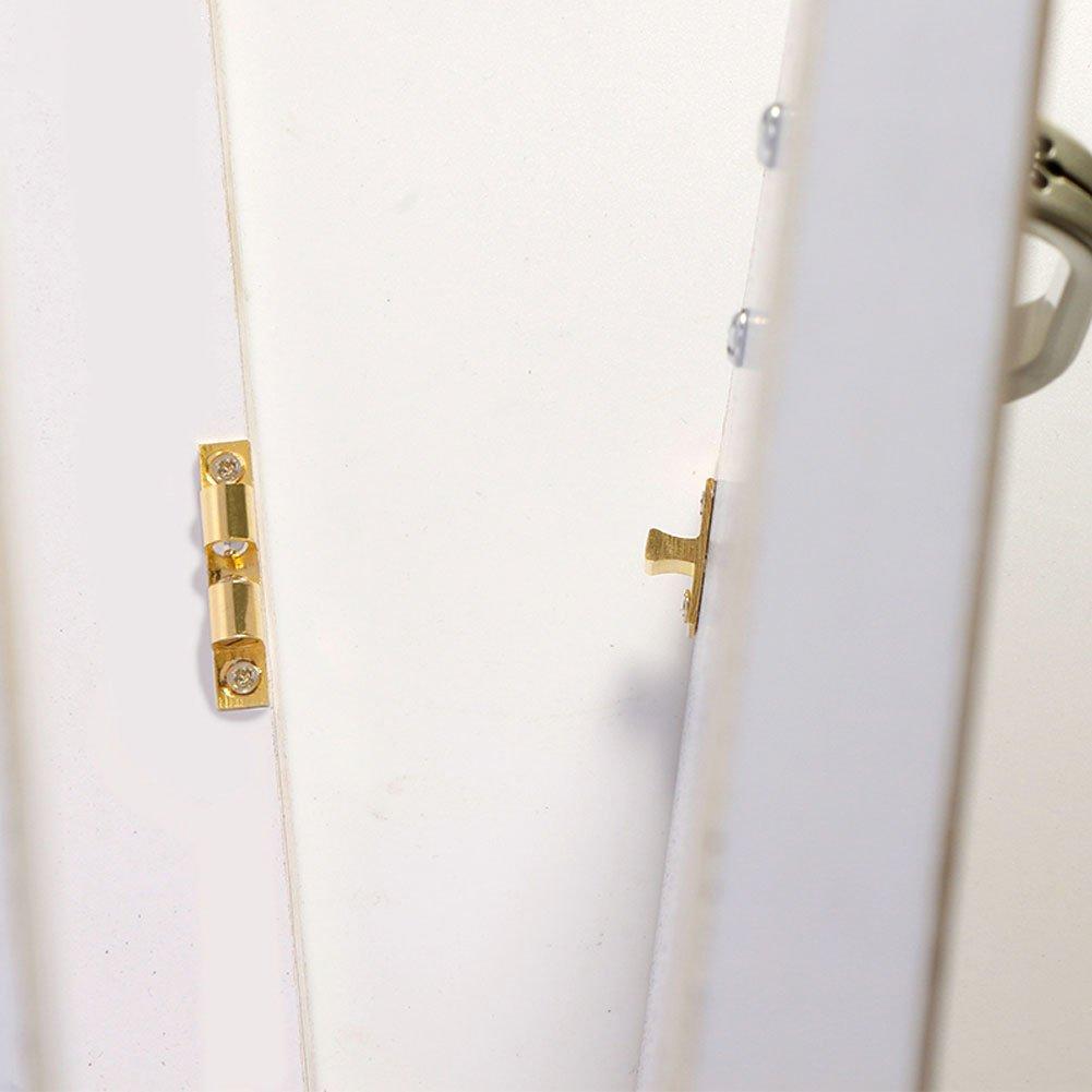 42MM GLOGLOW 1 Conjunto de lat/ón Macizo Bola de Captura Muebles Gabinete Cerradura de la Puerta Armario Armario Hardware F/ácil Abrir//Cerrar Par de lat/ón Pulido