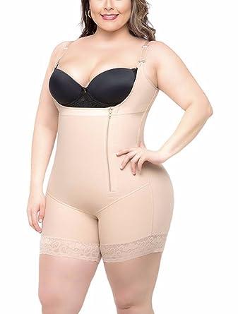 c5372015f4 Xsdao Tummy Control Shapewear for Women Bodysuit Plus Size Butt Lifter  (Beige