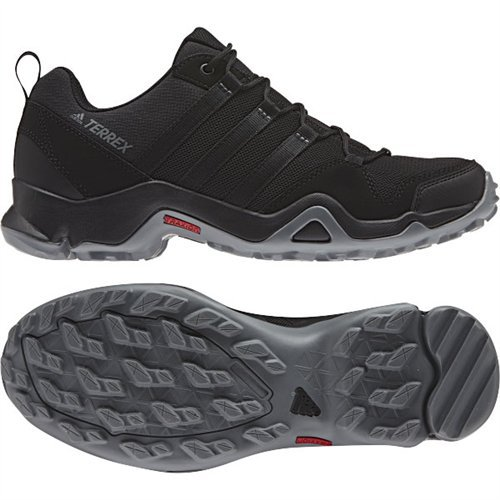 adidas outdoor Mens Terrex AX2R Shoe (9.5 - Black/Black/Vista Grey) (Adidas Trail Running Shoes Men)