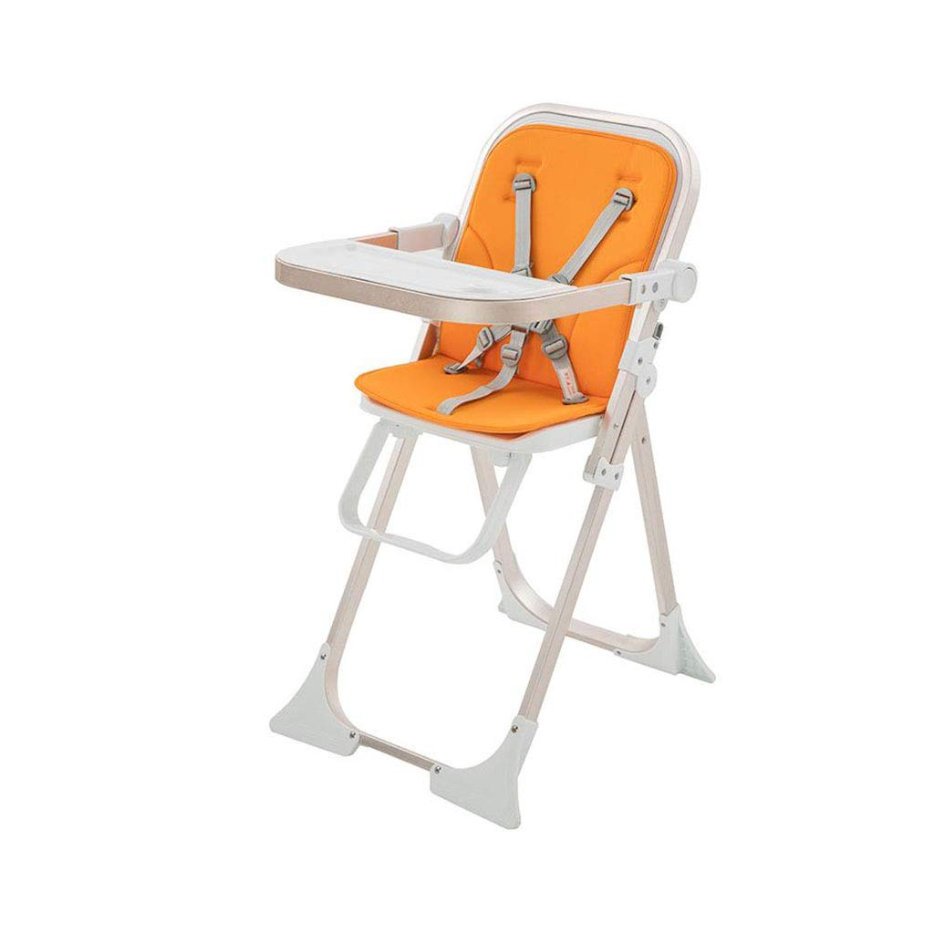 Foldable Baby Highchair Adjustable Safety Belt Feeding Seat Chair