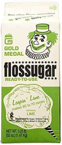 Gold Medal 3204 Lime Flossugar, 3.25 lb Carton