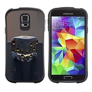 Hypernova Slim Fit Dual Barniz Protector Caso Case Funda Para Samsung Galaxy S5 [Il gioco d'azzardo denaro fortuna Casino Vegas]