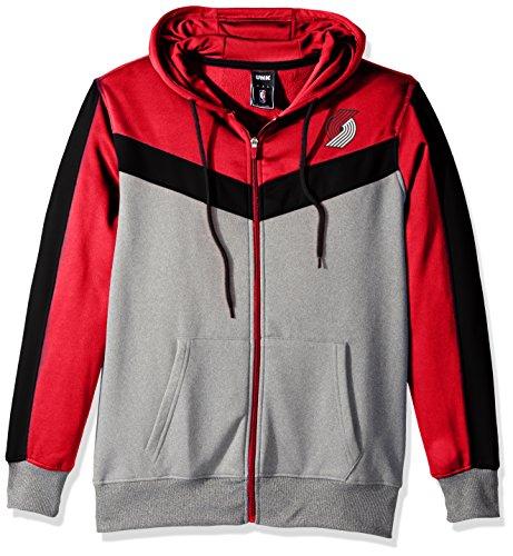 NBA Men's Full Zip Hoodie Sweatshirt Jacket Contrast Back Cut, Team Logo Color