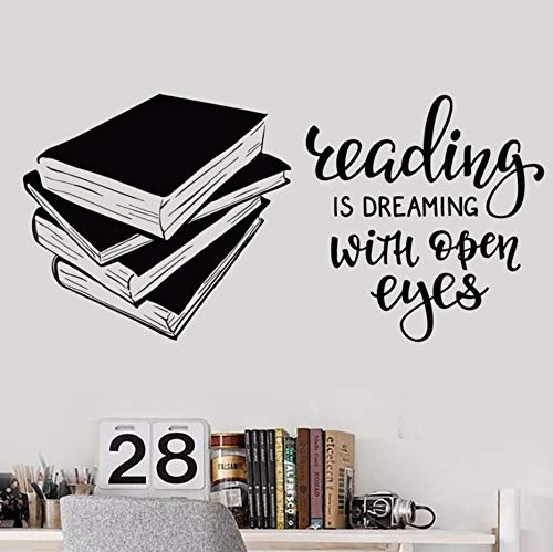 pbldb 60X29Cm Unique Kids Gift Vinyl Wall Sticker Books Quote Decals for Reading Room Library Book Shop No Background Wall Decal Bedroom