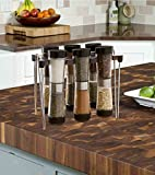 Modernhome 6-Piece Hourglass Spice Rack Set