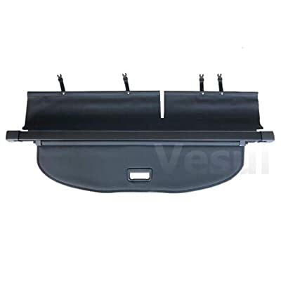Vesul Black Tonneau Cover Retractable Rear Trunk Cargo Luggage Security Shade Compatible with Jeep Cherokee 2020 2020 ONLY (Cargo Shade Fits on Cherokee 2020 2020 ONLY): Automotive