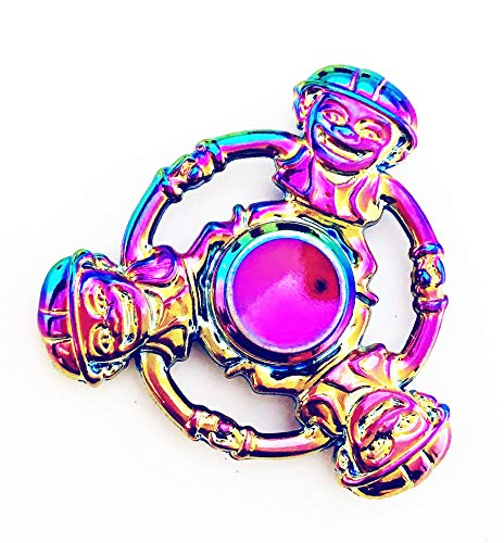 EDC Focus Toy Tradock 3 Sided Skul Spiners Upgraded High Speed Antique Fidget Metal Aluminum Alloy Spinner Toy Stress Reducer Relieves ADHD Metal, 3SKLL