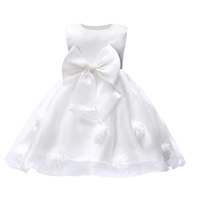 SUNBIBE Cute 0 2 Years Old Flower Baby Girl Princess Bridesmaid Pageant Gown Birthday Party Wedding Dress