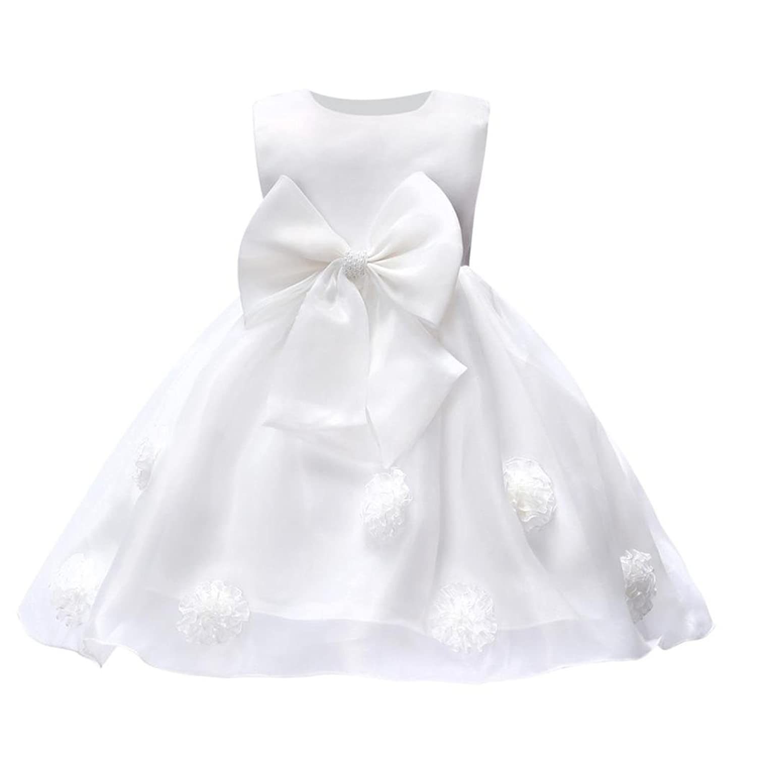 SUNBIBE Cute 0 2 Years Old Flower Baby Girl Princess Bridesmaid Pageant Gown Birthday Party