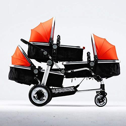 Littlefairy Baby Carriage,Triplets Stroller Baby Trolley High-View Stroller Baby Stroller (Stroller Triple Jogging)