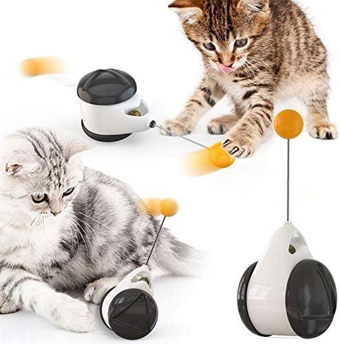 MingBin Juguetes para Gatos,Juguete Interactivo para Mascotas,Juguetes para Gatos, Juguetes Interactivos Gatos, Juguete Balanceado para Gato Catnip con Bola Ruedas Automático: Amazon.es: Productos para mascotas