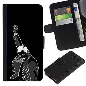 """SAMSUNG Galaxy S3 III / i9300 / i747 , la tarjeta de Crédito Slots PU Funda de cuero Monedero caso cubierta de piel ("""" Fist Revolution Man Black White Poster Art"""")"""
