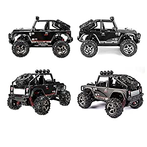 SZJJX RC Cars, 45KMH High Speed Racing Remote Control Monster Trucks 1/22 Scale 4WD 2.4Ghz Radio Controlled Off-Road Vehicle Rock Crawler Fast Electric Desert Buggy SJ1511 Black