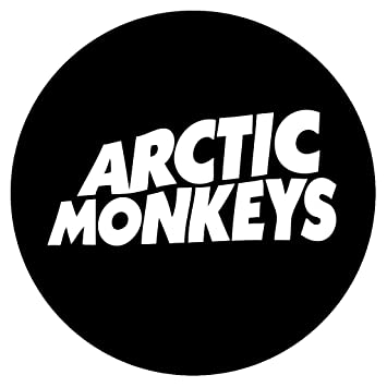 Amazon com arctic monkeys 4 5 rock band logo decal sticker for laptop car window tablet skateboard white everything else
