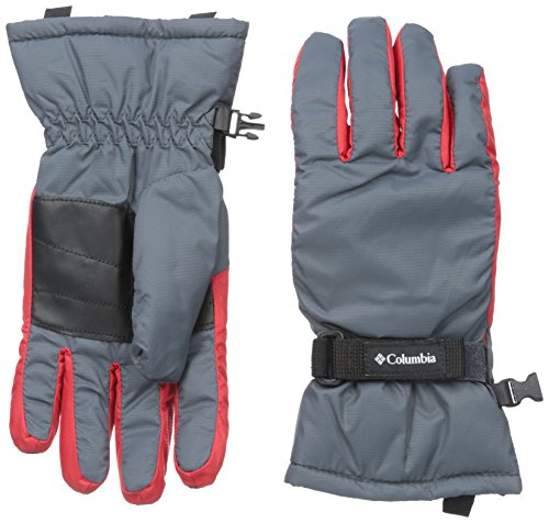 Columbia Y Core Glove, Graphite-Bright Red, Large