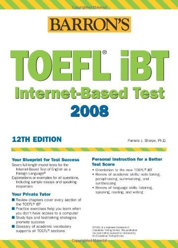Barron's TOEFL iBT Test of English as a Foreign Language with Audio CDs Assessment Cd