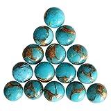 6 mm Round Shape, Top Quality Blue Copper Turquoise 10 Pcs Lot Cabochon, Wholesale Lot, Calibrated