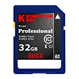 Komputerbay 32GB SDHC Secure Digital High Capacity Speed Class 10 600X UHS-I Ultra High Speed Flash Memory Card 40MB/s Write 90MB/s Read 32 GB