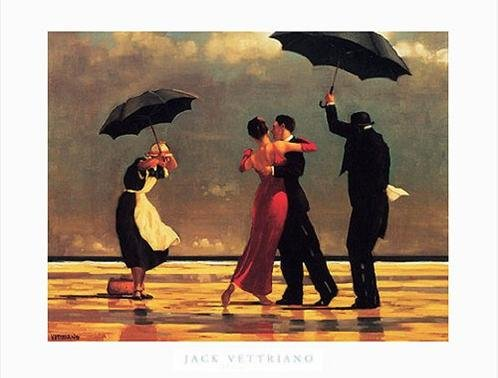 (The Singing Butler by Jack Vettriano Romantic Art Poster Print, Overall Size: 31.5x23.5, Image Size: 29.25x19.75)