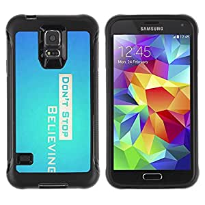 "Hypernova Defender Series TPU protection Cas Case Coque pour Samsung Galaxy S5 V [Don 'Stop Believing""]"