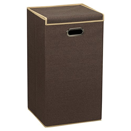 Household Essentials 5612 Collapsible Single Laundry Hamper with Magnetic Lid,...