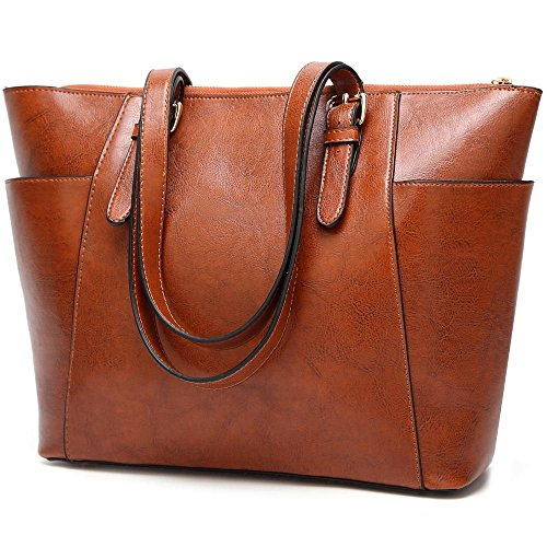 Penao Dama moda Retro único mensajero bolso, bolso de cuero cera aceite, bale a granel, tamaño 32cmx13cmx28cm Brown