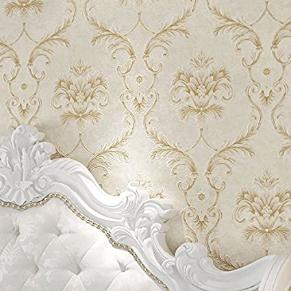 Cnmdgbwy Wall Paper Gold Carving Non Woven Cloth Bedroom Living Room