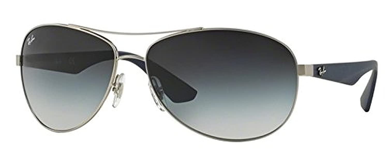 0f6ecce547 Amazon.com  Ray-Ban RB 3526 Sunglasses Matte Black   Grey Green 63mm   HDO  Cleaning Carekit Bundle  Clothing
