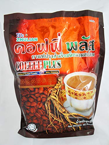 ZHULIAN INSTANT COFFEE PLUS With Ginseng Healthy Robusta Herbal 40 sachets