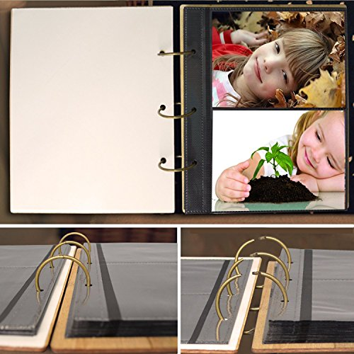 PETAFLOP 5x7 Photo Album Book Butterfly Themed Photo Albums 120 Pockets 3 Ring Binder by PETAFLOP (Image #6)