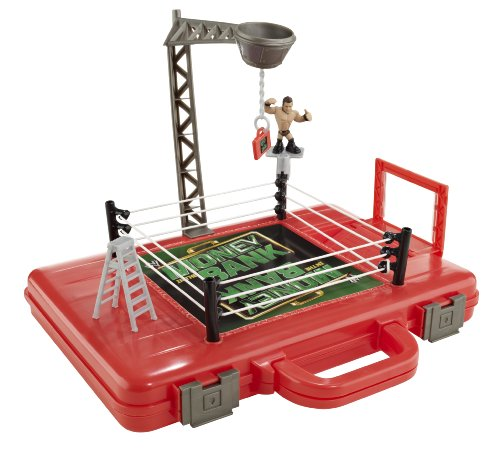 WWE Rumblers Money in the Bank Carrying Case and Playset (Wwe Money In The Bank Ring Set)