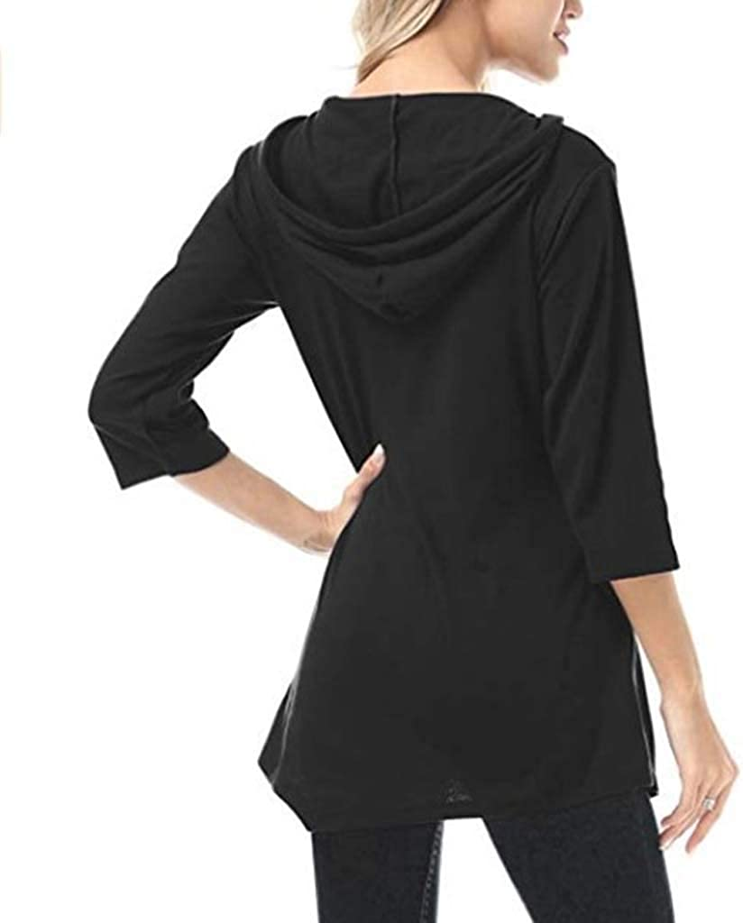 Casual Pullover Hoodies for Women,Women Shirts Long Sleeve Button Down Tunic Tops Work Henley T Shirt Loose Pocket Blouse