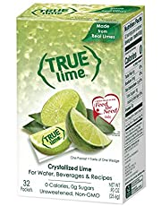 True Lime For Your Water - 32 Single Serve Packets | 100% Natural True Citrus NON-GMO & NO GLUTEN